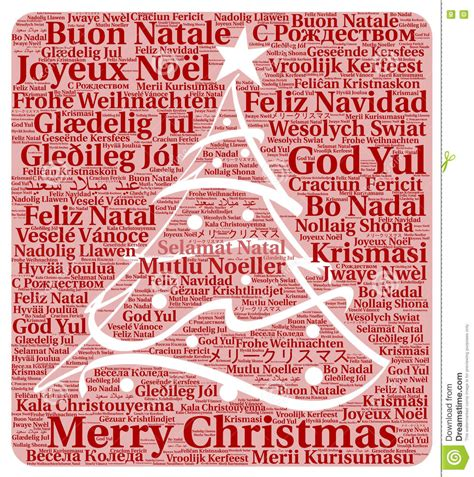merry christmas   languages word cloud stock illustration illustration  french