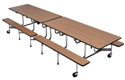 School Lunch Tables by Longo Schools 187 Archive 187 Rectangle Bench Cafeteria Table
