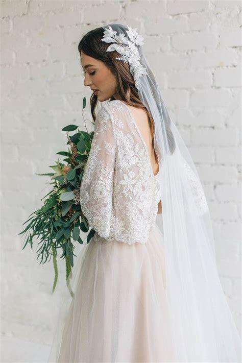 Floral Wedding Veil floral wedding veil juliet cap veil 3d veil bohemian