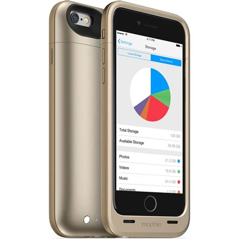 mophie 64gb space pack for iphone 6 6s gold 3014 b h photo