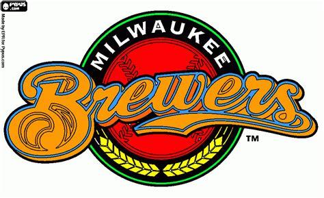 brewers colors milwaukee brewe coloring page printable milwaukee brewe
