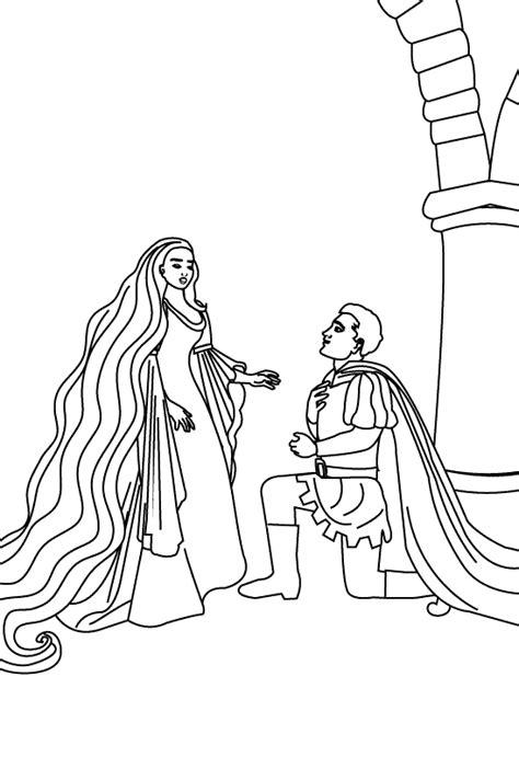 barbie as rapunzel free colouring pages