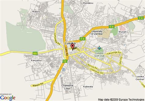map of lusaka map of hotel intercontinental lusaka lusaka