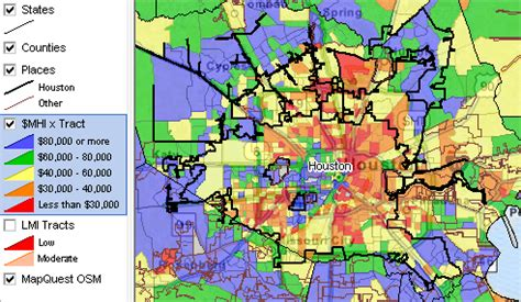 houston map by income houston community regional demographic economic
