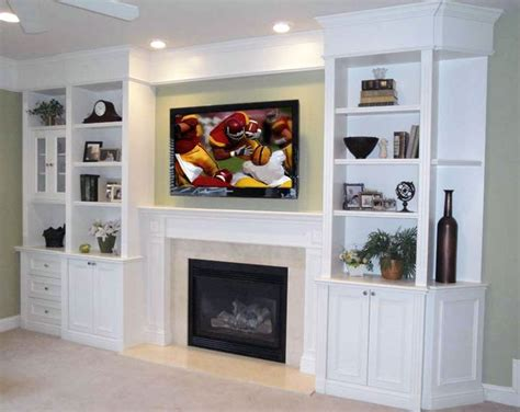 Built In Fireplace And Tv by Built In Shelving Tv Fireplace Fireplaces