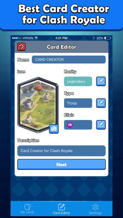 card creator card maker for clash royale card creator iphone apps