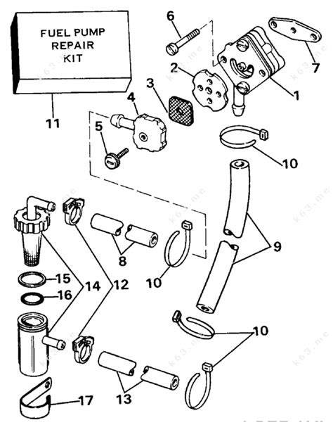 Evinrude 1984 15 E15elcrm Fuel Pump Parts Catalog