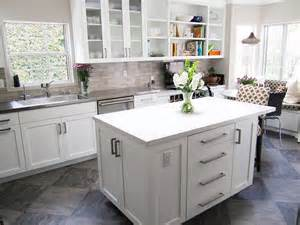 Neutral Kitchen Backsplash Ideas by Neutral Glass Tile Backsplash Build This Pinterest