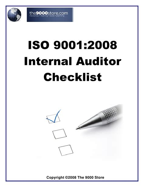 iso 9001 checklist template iso 9001 audit checklist