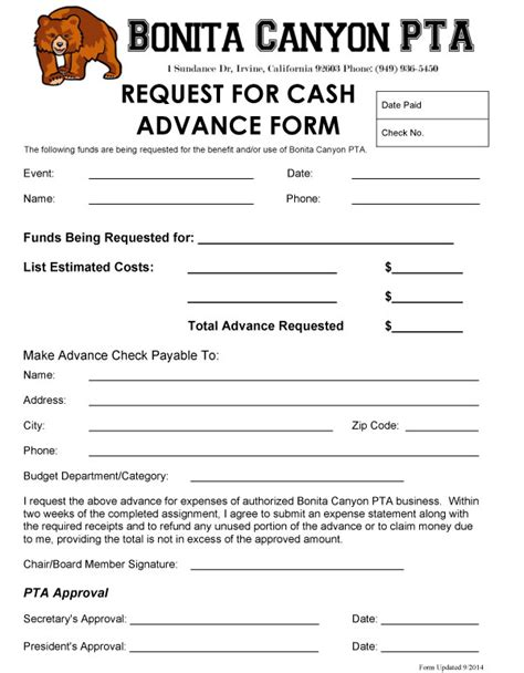 100 employee cash advance form template 711