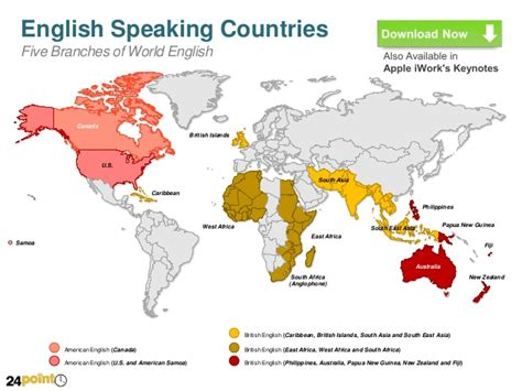 speaking countries in canada map of speaking countries