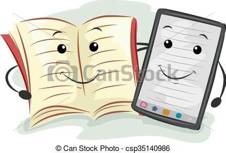 libro dibujo digital digital traditional book tablet mascot mascot illustration vector search clip art