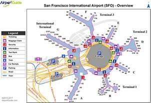 san francisco map with airport san francisco san francisco international sfo airport