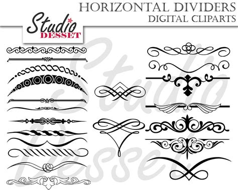 Wedding Invitation Header by Black Dividers Wedding Invitations Calligraphy Clipart
