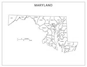Maryland State Outline Map by Maryland Labeled Map