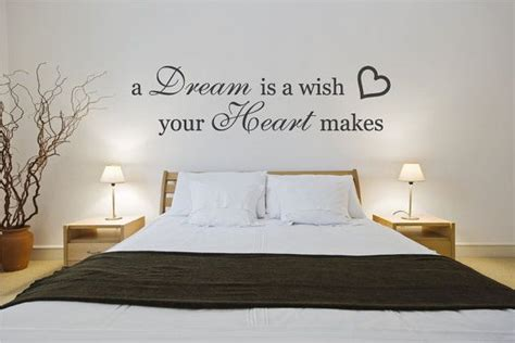bedroom quotes wall decal bedroom quote sticker a dream is a wish your