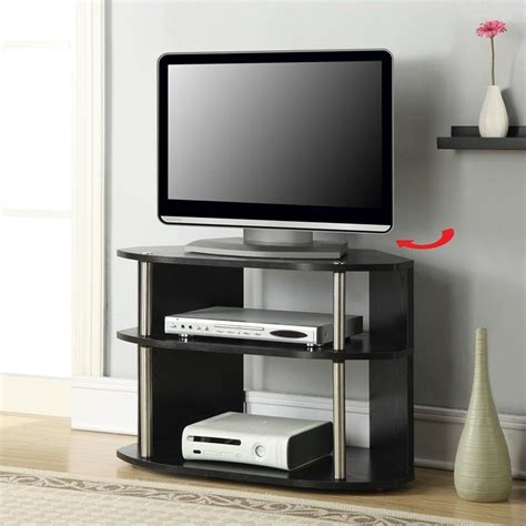 swivel tv stands 32 quot swivel tv stand in black 151283
