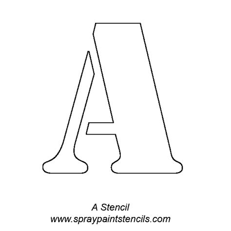 templates for alphabet letter a stencil new calendar template site