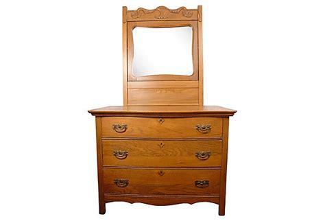 Dresser W Mirror by Antique Oak Dresser W Mirror