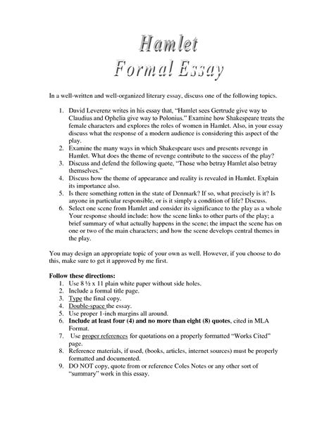 Essay Topics For Hamlet by Hamlet Essay Prompts Essay Question Hamlet Ayucar