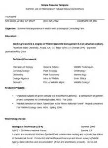 Summer Resume Template by Simple Resume Template 39 Free Sles Exles Format Free Premium Templates
