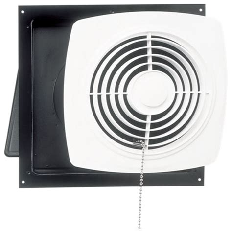 Wall Mounted Bathroom Fan Bathroom Fans Broan Wall Mount Chain Operated Utility Fan Kitchensource