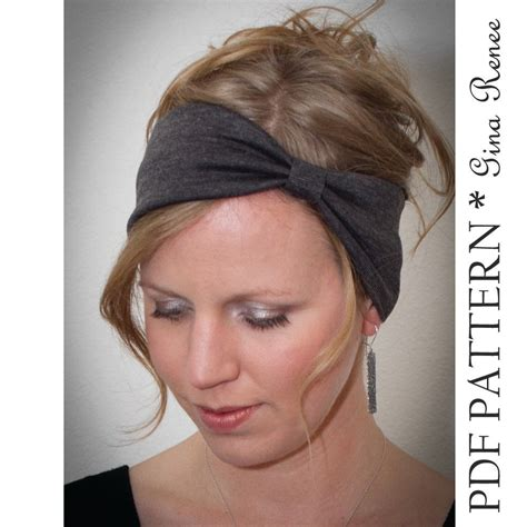 sewing pattern headband headband sewing pattern ear warmer pattern pdf sewing