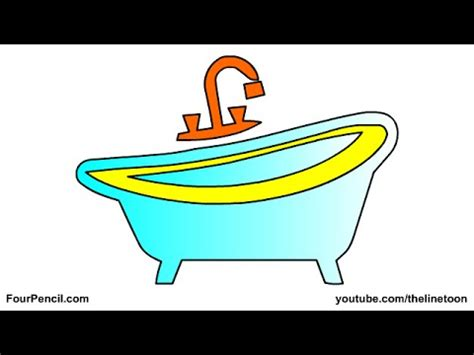 how to draw a bathtub 099 how to draw bath tub for kids step by step drawing