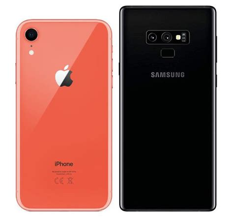 compare smartphones apple iphone xr vs samsung galaxy note 9 cameracreativ