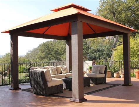 Outdoor Patio Gazebos Stc Seville Gazebo 12 By 12 Garden Outdoor