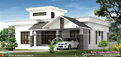 home design blogs budget low budjet single floor house design two side views