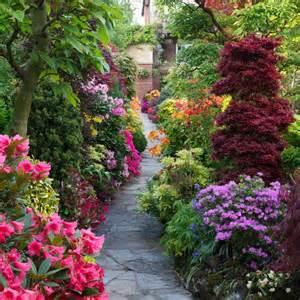 pathway through the spring garden garden paths pinterest