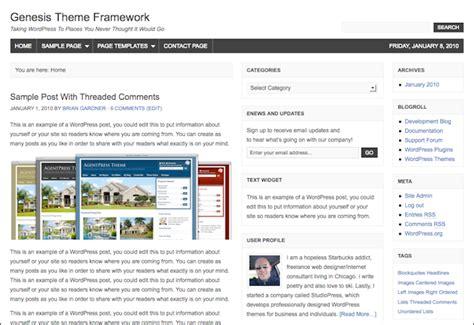 Studiopress Genesis Theme Framework Templates Dobeweb Genesis Framework Templates