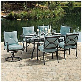 wilson fisher somerset piece dining set means stationary chairs rockers sun rooms sofas lamps sectionals