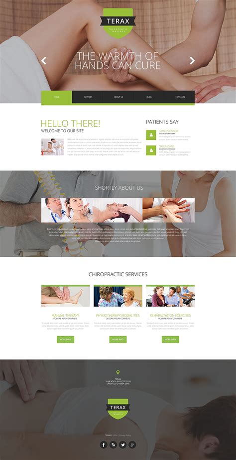 Massage Therapy Website Template 52523 Therapy Websites Templates