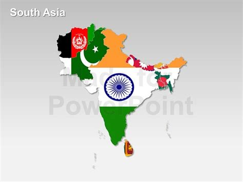 south asian countries map south asia map fully editable slides