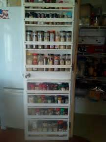 spice rack on back of pantry door kitchens