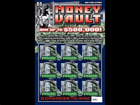 Instant Win Lottery Tickets - 5 money vault lottery bengal scratching scratch off