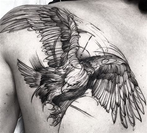 tattoo eagle sketch 68 perfectly imperfect sketch style tattoos tattoomagz