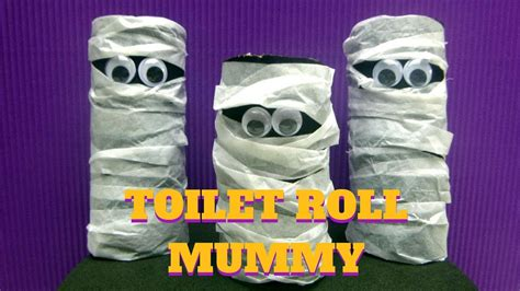 Mummy Toilet Paper Roll Craft - craft toilet paper roll mummy toilet paper