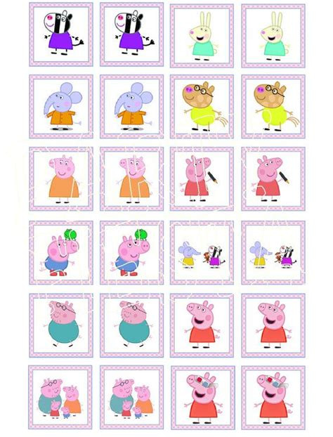 printable memory card game 19 best peppa pig images on pinterest birthday