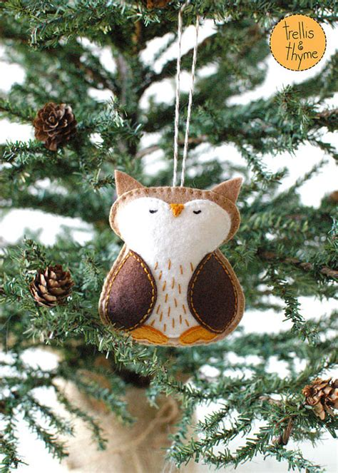 pdf pattern woodland owl winter felt ornament by sosaecaetano