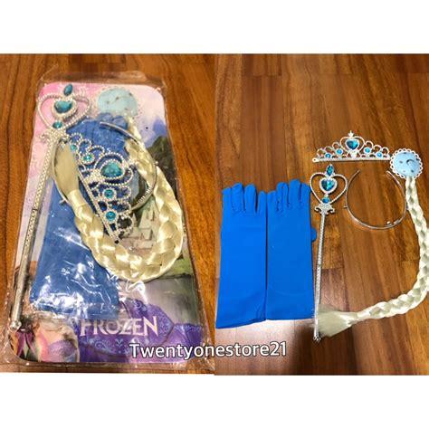aksesoris frozen elsa dan mahkota rambut