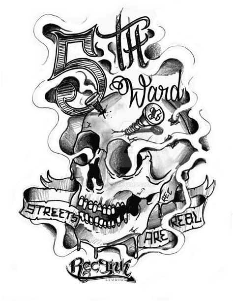 screw tattoo designs 5th ward htown by rec by txrec on deviantart