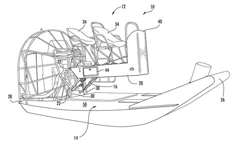 airboat drawing patent us7789034 airboat suspension system google patents