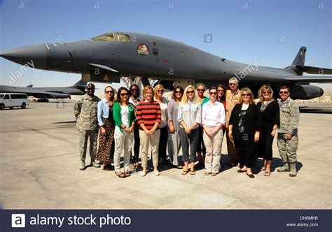 379th air expeditionary wing military spouses pose with 379th air expeditionary wing