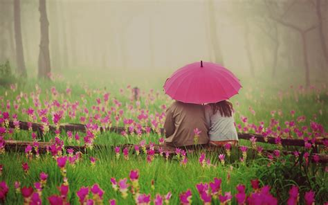 couple wallpaper with umbrella romantic couple under umbrella wallpaper