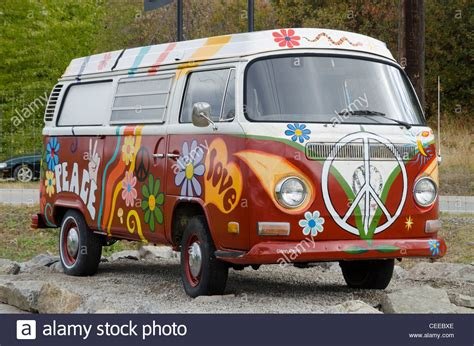 volkswagen van hippie painted volkswagen hippie van ruby blue s winery