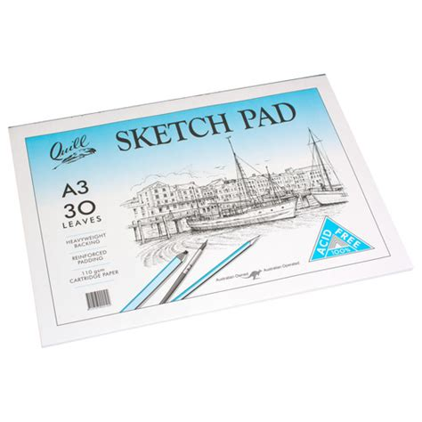 Canson Drawing Paper 110gsm A3 a3 sketch pad with 30 sheets of acid free 110gsm cartridge paper