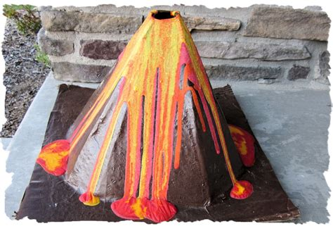 How To Make A Volcano Paper Mache - eclectic nut paper mache volcano